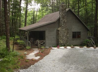 Cabin and parking area as you arrive for very laid back retreat and get-away...
