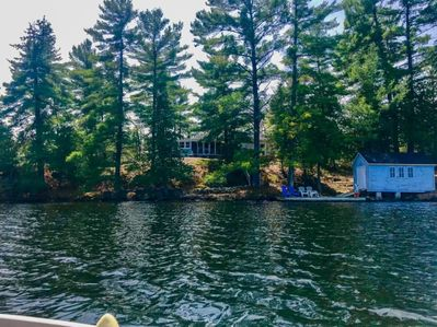 Cottage view from the water