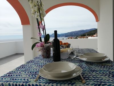 Photo for Brand new apartment with beautiful sea view. Ideal for families, sports
