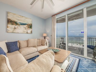 Photo for 7th Floor Airy Condo, On-Site Pool & Hot Tub, On The Beach