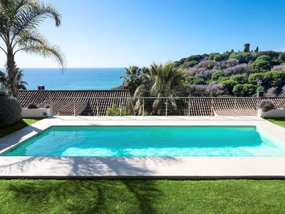 Photo for BANANA CHILL OUT - BRIGHT and MODERN - Sea views from the private pool - Quiet residential area ideal for families with small children