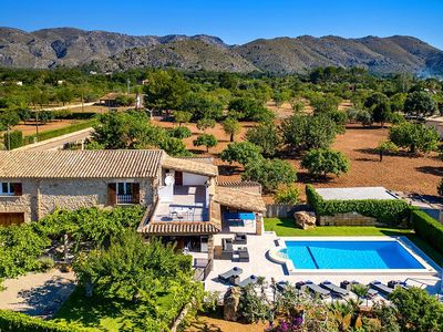 Photo for Finca Rever with pool, free internet, barbecue, 5 bedrooms, 3 bathrooms, quiet location