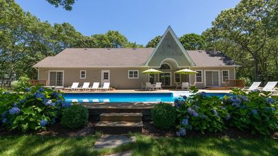 Photo for Sprawling Seclusion on 2 Acres in East Hampton w/ Private Pool, Hot Tub, Tennis Court