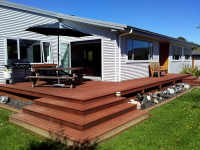 Photo for Modern 'Kiwi Bach' Style Holiday Home So Close to the Beach!