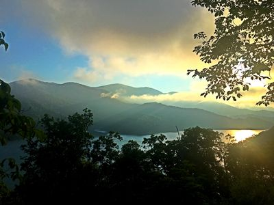Photo for Secluded Cabin overlooking Fontana Lake and Great Smoky Mtn