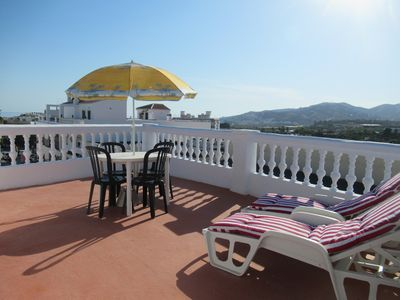 Photo for Nice apartment in the center with private terrace, wifi and air conditioning