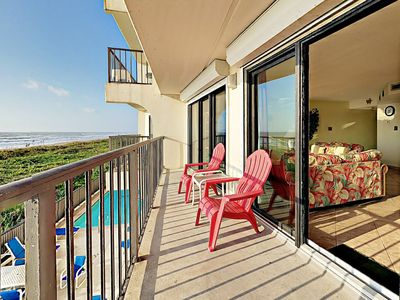 Photo for 2BR Absolute Oceanfront w/ Balcony, Pool, & Hot Tub – Direct Beach Access