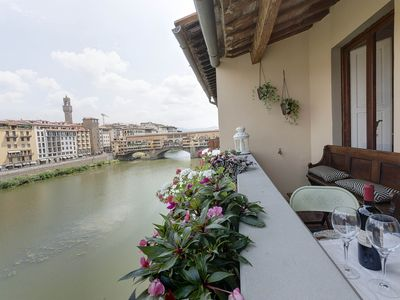 Photo for Historical Apt. Spect.Arno View &Balcony