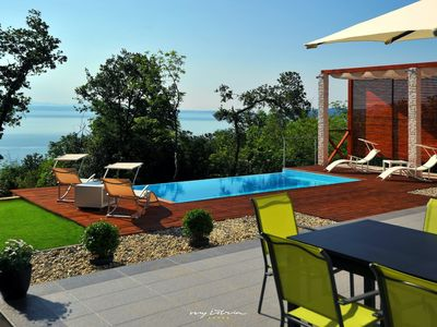 Photo for Modern villa with sea views near Opatija