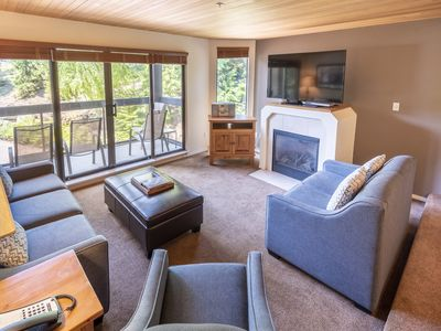 Photo for Quiet Location, Mountain & Golf Course views at Ironwood - Quiet Whistler Blueberry Condo w/Pool & Hot Tub (Unit 206)
