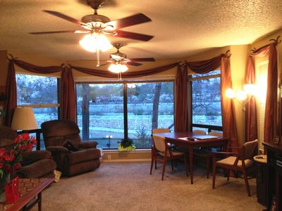 Photo for Beautiful Ground Level 2 Bedroom, 2 Bathroom, Condo Overlooking Comal River