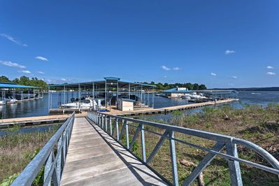 Rent a boat, jet ski, or kayak at one of the nearby marinas.