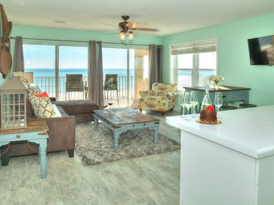 Photo for WOW! New to VRBO! Just renovated! Adorable Veranda 203!  Direct Beachfront!