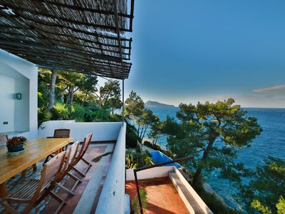 Photo for villa with sea water swimming pool and direct access to the sea