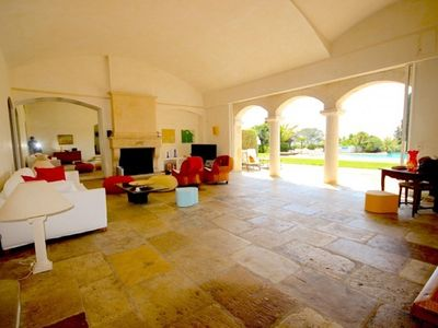 Photo for Amazing villa with sea view, flat 3000 m garden, huge swimming pool near the sea