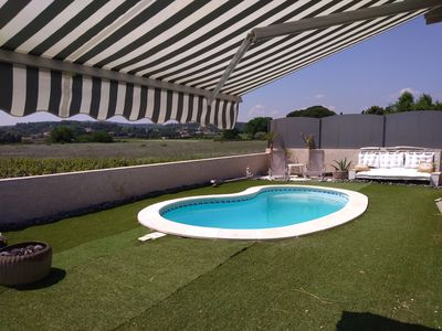 Photo for air-conditioned villa private heated fenced pool