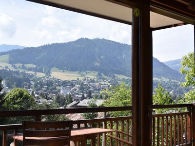Photo for MEGEVE, CLEAR VIEW, 2 balconies. 500m from the center, quiet, comfortable, well equipped.