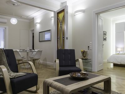 Photo for Lazar Deco Suite Basilica, WiFi, AC, 2BR, 2BA on 90 sqm at St.Stephen's Basilica
