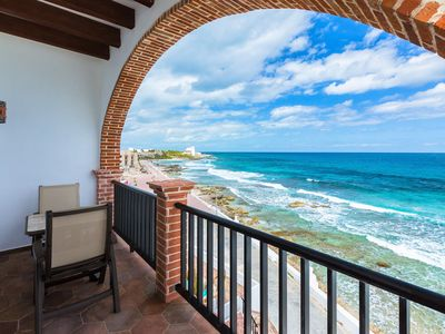 "Photo for Oceanside Villa ""Cozumel"" with a/c and pool"