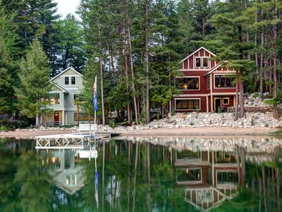 Photo for Newly Built Luxury Lakefront Lodge With Sandy Beach, Hot Tub, Kayak/SUP, Dock