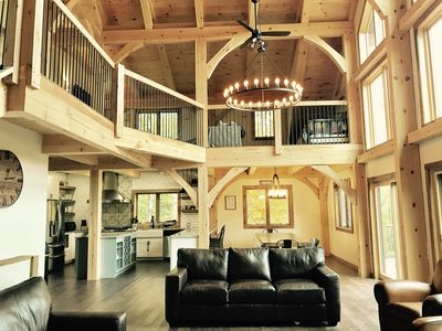 Photo for Timber Frame Home – Great Location – Cooks Kitchen – 7 Person Hot Tub!