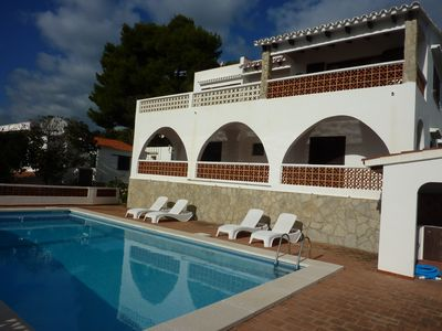 Photo for Villa in Son Bou, amazing sea views, 4 bedrooms, private pool, wifi, UK TV.