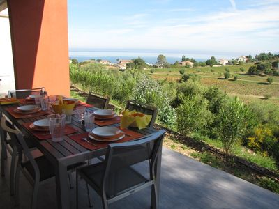 Photo for SUPERB T3 75M2 HUGE TERRACE VIEW ON GULF OF ST FLORENT