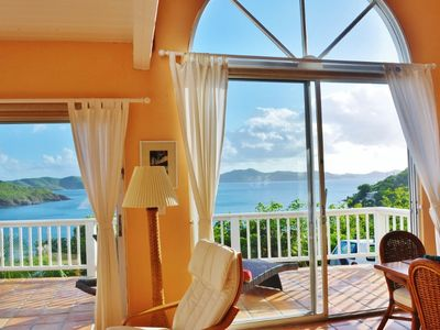 Photo for Seawing, spectacular island villa offering seclusion, privacy and panoramic view