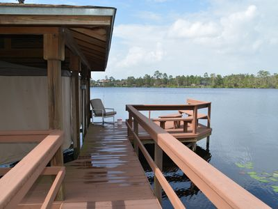 Photo for Spacious 2/2 Lakefront Custom Home, Balconies, Private Dock