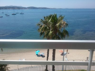 Photo for Large south facing beach studio, panoramic view 4th floor, possibility gar