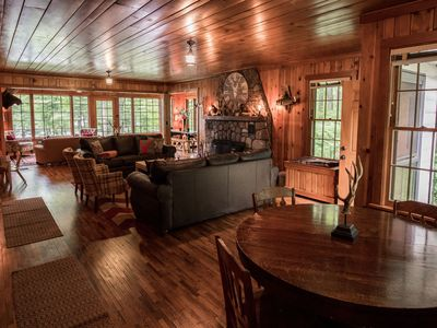 Photo for Secluded Nostalgic Lodge, Room for All, Sandy Shore on Beautiful Teal Lake