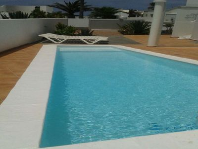 Photo for Apartment in the center of Charco del Palo with Internet, Pool, Balcony (970015)