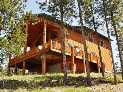 Photo for 5BR Cabin-Amazing Views, Near ATV Trails, Shuffleboard, A/C, Hot Tub, Fireplace!
