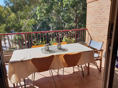 Photo for Treetop apartment with huge balcony near all amenities