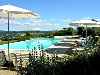 Photo for Chianti apt in Villa with Pool