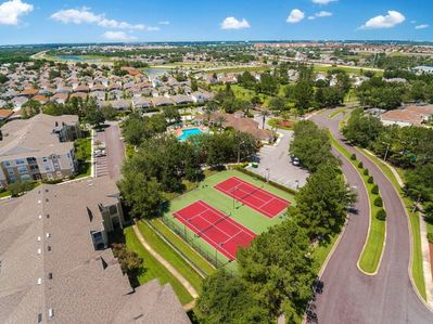 The tennis courts at Windsor Palms