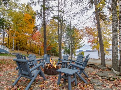 Photo for Hillside lakefront home with dock, snowmobile trails, & free WiFi - Dogs OK!