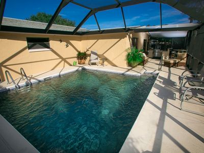 Photo for Private Screened Pool Home On Cul-de-sac Just Minutes From The Gulf / Sleeps 7