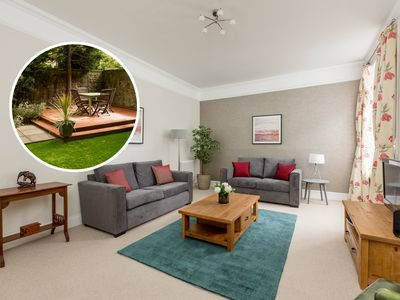 Photo for West End: Elegant garden apartment in Victorian town house. Central but peaceful