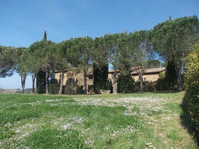 Photo for Apartment in a country house in the hills overlooking the sea with a large park and swimming pool