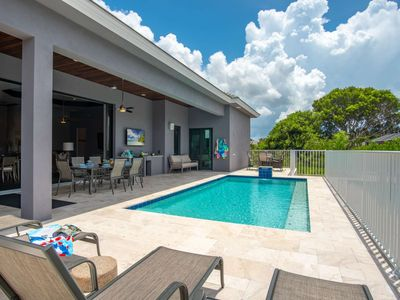 Photo for Live in Luxury and Walk to the Beach! New Home w/Heated Salt Water Pool, 2 King Beds & WiFi