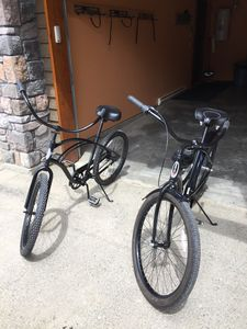 Cruiser bikes are yours to use !