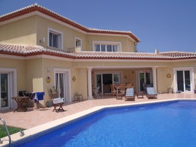 Photo for Beautiful private villa with private pool, A/C, WIFI, TV, washing machine and parking