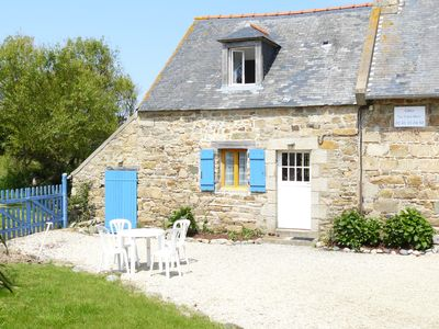 Photo for Newly renovated 'Les Volets bleus' beachfront cottage for 6 people