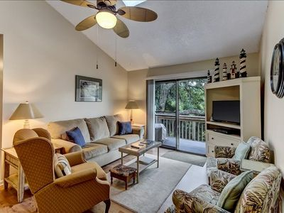 Photo for DOG FRIENDLY! This 3 bedroom, 2 bathroom Forest Ridge Condo is set in a beautiful wooded community and located near the beach. Fully furnished for the perfect quiet getaway for up to 6 people.