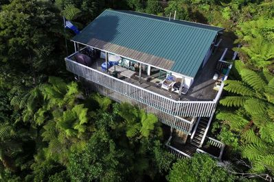 Overview of house in the bush