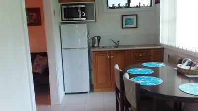 Bedsit kitchen and dinning