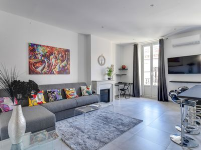 Photo for IMMOGROOM- 3*** FULLY renovated-Cannes Center -A/C-Balcony-CONGRESS/BEACHES