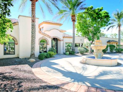Photo for Private Mediterranean-Style 5BR Estate w/ Hot Tub, Pool & Outdoor Dining