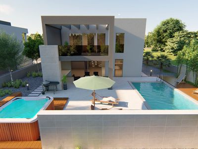 Photo for Modern Villa North, in Dalmatia, with a Pool